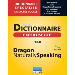 Dictionnaire BTP & ARCHITECTURE POUR DRAGON PROFESSIONAL V13
