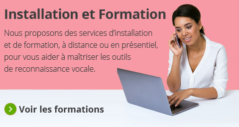 Formation à la dictée vocale Dragon